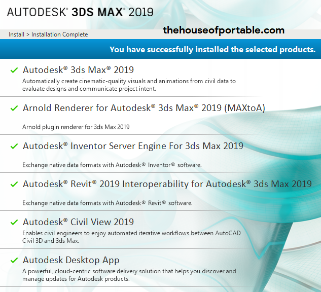 Autodesk 3ds Max 2019 1 1 Portable - The House of Portable