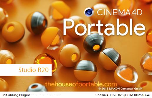 maxon cinema 4d r20 portable